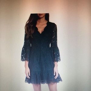 NWT Eliza J Bell Sleeve Lace Cocktail Dress 8
